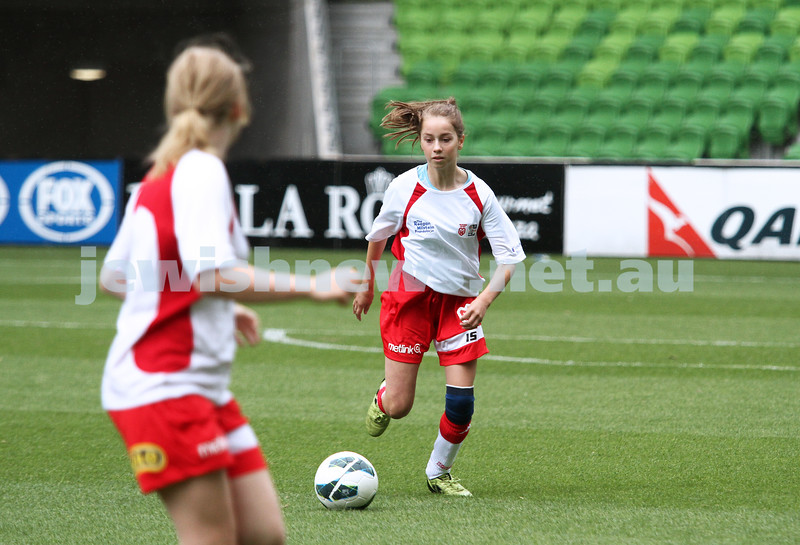 16-3-13. Girls with Heart soccer match. AAMI Park, Melbourne.  Photo: Peter Haskin