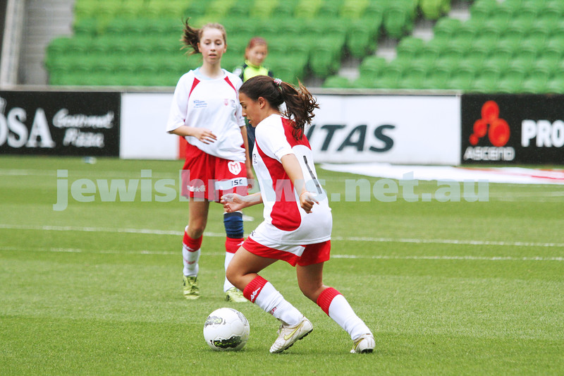 16-3-13. Girls with Heart soccer match. AAMI Park, Melbourne.  Kerryn Jayes. Photo: Peter Haskin