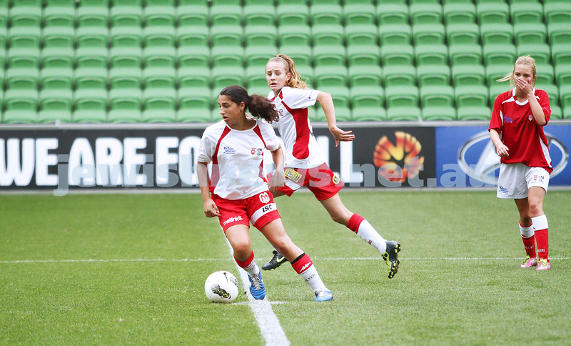 16-3-13. Girls with Heart soccer match. AAMI Park, Melbourne.  Amy Silver . Photo: Peter Haskin