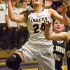 Record-Eagle/Brett A. Sommers <br /> <br /> Glen Lake's Savannah Peplinski attempts a layup during Tuesday's Class C quarterfinal girls basketball game in Gaylord against St. Ignace. Glen Lake won 63-52.