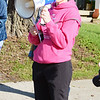 Will Fehlinger | The Herald-Tribune<br /> Lynn Hertel, Council Director of Girls on the Run of Margaret Mary Health, addresses participants prior to the start of the spring GOTR 5K walk/run.