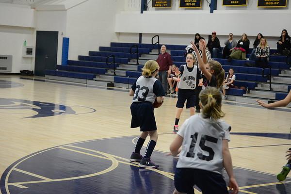 Girls travel basketball at Quabbin