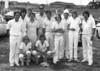 4th XI Premiership Team 6th Grade Matting (S.S.C.C.A) 1974/75<br /> Back: Ian Sauvarin, Jeremy Ludowyke, Graham Allison, John Cook, Keith Walter(Capt), Phil Dinning, Ross Henderson, Peter May, Ken Major(12th man), Dick Siebel<br /> Front: Andrew Dunn, Evan Evans