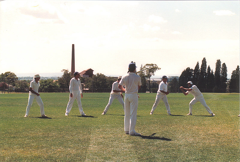 Fielding practice<br /> 1st XI v Ashwood<br /> Semi-Final 1989/90