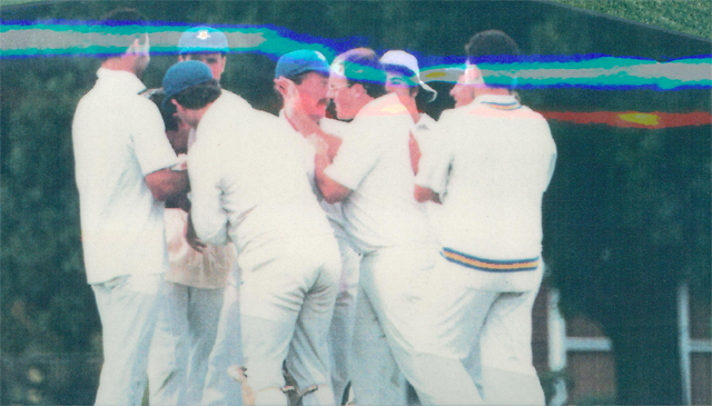 Congratulations on a wicket<br /> First XI  Grand Final v <br /> B Turf 1992/93