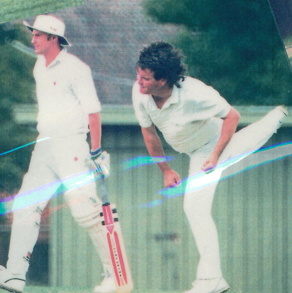 Stephen Toohey bowling<br /> First XI  Grand Final v <br /> B Turf 1992/93