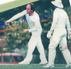 Allan Way bowling<br /> First XI  Grand Final v <br /> B Turf 1992/93
