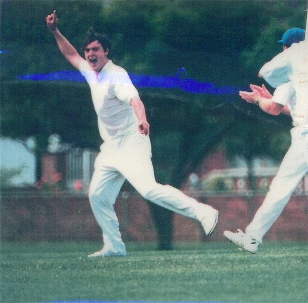 Marcus Leonard appeals<br /> First XI  Grand Final v <br /> B Turf 1992/93