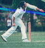 Michael Harvey bowling<br /> First XI  Grand Final v <br /> B Turf 1992/93