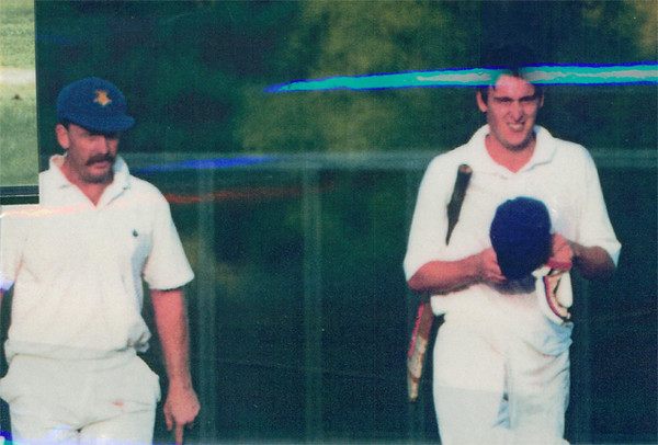 Gary Parker & Marcus Leonard <br /> First XI  Grand Final v <br /> B Turf 1992/93