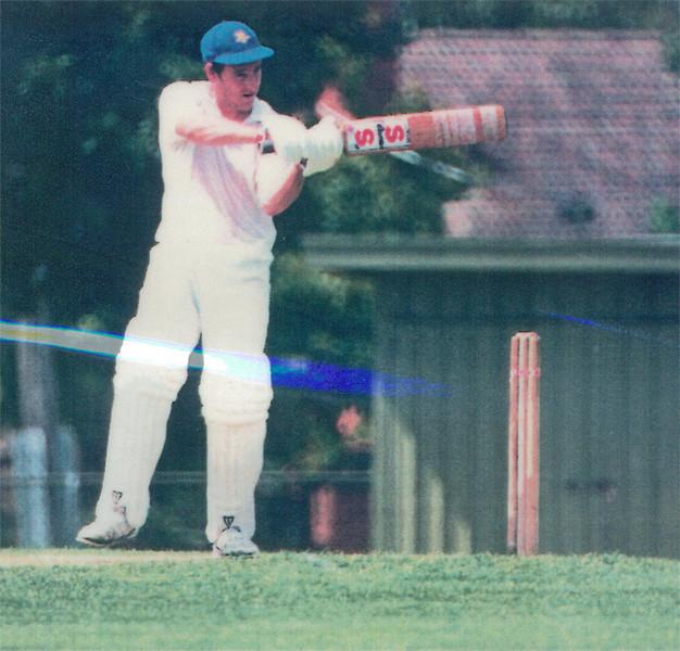 Marcus Leonard cuts<br /> First XI  Grand Final v <br /> B Turf 1992/93