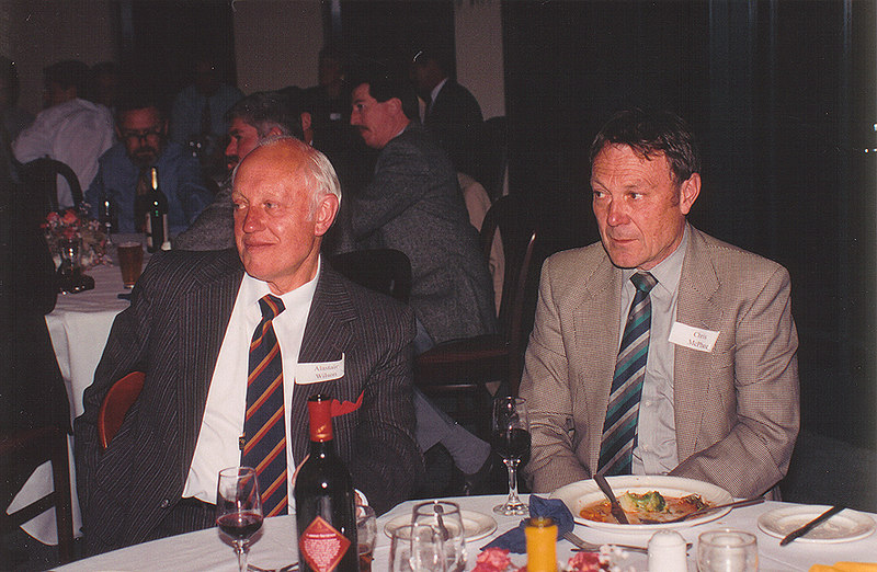 Alastair Wilson & Chris McPhee<br /> 70th Year Reunion Dinner 1993