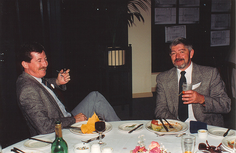 Peter Hannon & Chris Armstrong<br /> 70th Year Reunion Dinner 1993