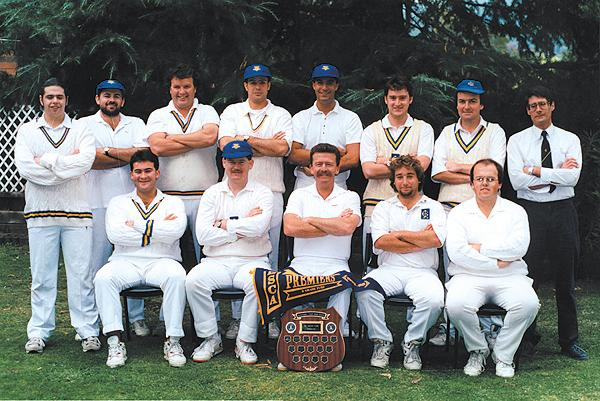 1st XI Premiership Team<br /> B Turf (E.S.C.A) 1992/93<br /> Back: Michael Harvey,  Trevor Hamilton (12th man),  Stephen Toohey,  Marcus Geeraerts, Rod McLennan,  Marcus Leonard,  Allan Way,  Ian Lee (Pres)<br /> Front: Damien Loorham,  Mark Ross-Naylor,  Gary Parker (Capt),  Patrick Doquile,  John Foley