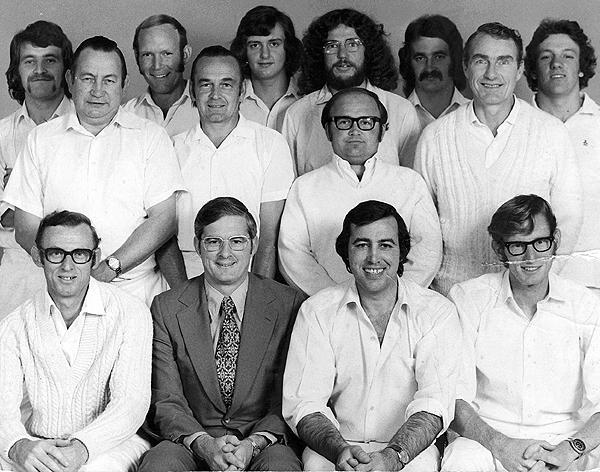 3rd XI Premiership Team<br /> B Matting (E.S.C.A) 1973/74<br /> Back: Damien Burgess,  David Bird,  Wayne Halbert,  Bob Munce,  Ivan Greaves (Jnr), Peter O'Malley<br /> Middle: Ivan Greaves (Snr),  Tom Pew,  David Conley,  Barry Plant<br /> Front: Tony Ellis,  Bill Harrison (Pres),  Ron O'Malley (Capt),  Graeme Crook