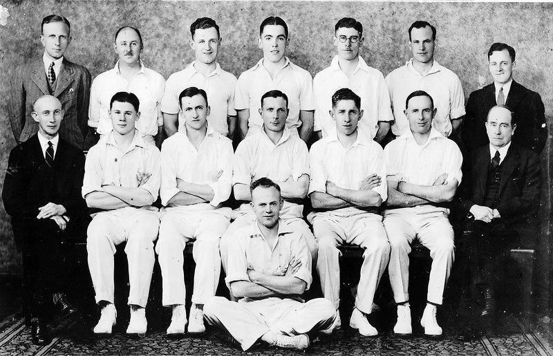 1st XI Runners Up<br /> A Grade Matting (E.S.C.A.) 1933/34<br /> Back: Mal Hemingway,  John Head,  Dick Chandler,  Alan Buchanan,  Mal Clapham, <br />  Jack Sambell,  L.Whelan (Scorer)<br /> Front: Arthur Nancarrow,  Colin Head,  Arn Blackman,  Rupe Robinson,  Bill Edgar, <br />  Arthur McDonald,  H.L.Witt (Pres)<br /> Sitting: Cec Fielding