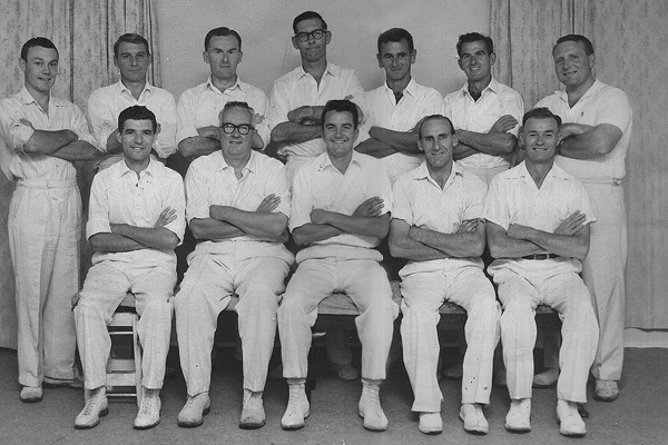4th XI Premiership Team<br /> C Matting (E.S.C.A) 1960/61<br /> Back: Chris McPhee,  Ron Caull,  Bill Kelly,  Murn Ponsford,  Bill Clark,  Bill Cattlin, Russ Paul,<br /> Front: Bruce Robertson,  Bob Glover (V.Capt),  Jim Toohey (Capt),  Earl Collins, Ted Henry