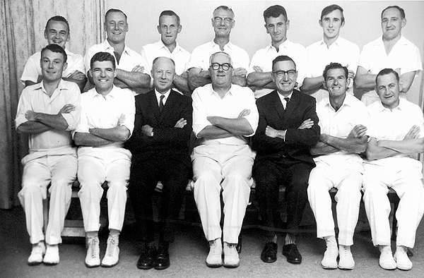 3rd XI Runners Up<br /> B Matting (E.S.C.A) 1962/63<br /> Back: Tom Pew,  Wally Walliker,  Len Ashmore,  Len Crook,  Bill Clark,  Les Stubbs, Bruce Harding<br /> Front: Chris McPhee,  Bruce Robertson (V.Capt),  Ern Massey (Sec),  Bob Glover (Capt), Geoff Knight (Pres),  Bill Cattlin,  Ivan Greaves