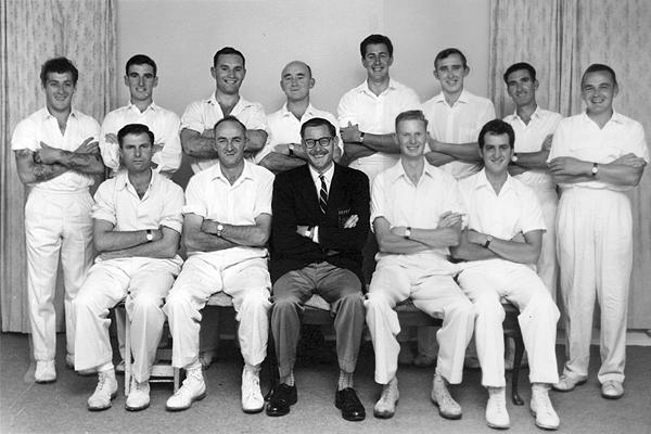 2nd XI Runners Up <br /> C Turf (E.S.C.A) 1960/61<br /> Back: John Wright,  Ray Scott,  Wally Nicolson,  Doug Curtin,  Ray Jones,  Les Stubbs, Bill Roseman,  Tom Pew<br /> Front: Cec Storer,  Gordon Grindrod (Capt),  Neville Lee (Pres),  Ian Lovegrove (V.Capt), David Massey