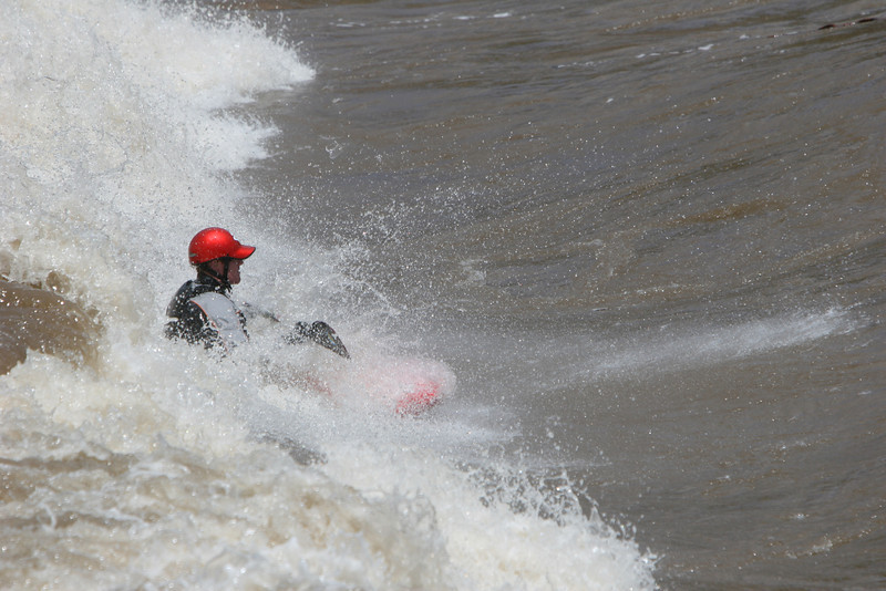 Drew Hunter playing in the new standing wave at the Glenwood Springs water park on the Colorado River. Mr Hunter was killed in a Kayak accident in June of 2009.