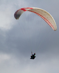 Paragliding off Waipoli Road, Kula, Maui. May 2012