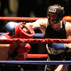 Night 2 of 2017l Golden Gloves. James Marino of Medford and Somerville Boxing Club (Blue), right, won by a 4-1 decision over Raphael Ocasio of Upperkuts (Red) in 165 lb Novice bout. (SUN/Julia Malakie)