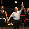 Night 2 of 2017l Golden Gloves. Jared Laganas of Hudson, NH, originally of Dracut, from SLS Boxing, right, is declared winner by unanimous decision over Furcy Ferrera of Peabody and Private Jewels, in 165 lb Novice bout. Referee is Leo Gerstel. (SUN/Julia Malakie)
