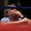 Central/ Lowell Golden Gloves boxing. Preliminary bouts, Novice. Judge Dave Paton watches a bout. (SUN/Julia Malakie)