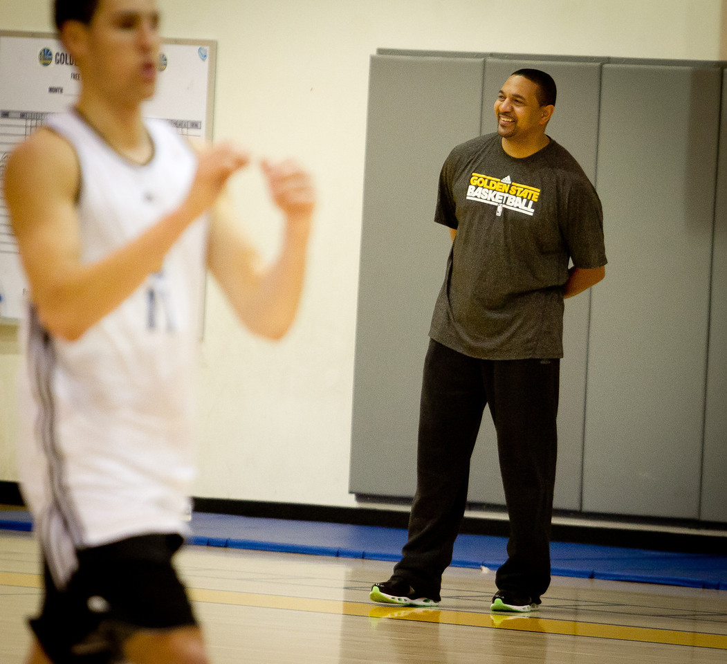 Warriors head coach Mark Jackson during the Golden State Warriors practice in Oakland , Calif., on Thursday, December 22, 2011.