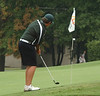 Chris Vaianos hits chip shot on 18 Monday in the McDonald's Tournament of Champions at Ridgefields.  Photo by David Grace