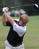 PGA Tour golfer Ernie Els  hits in MondayÕs inaugural KresgeÕs Krew Foundation Charity Pro-Am at Ridgefields Country Club. Photo by David Grace
