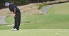 Tyler Smith of TN Wesleyan putts at the thirteenth hole during the VIC Invitational. Photo by Erica Yoon