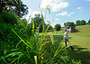 Luke Armstrong tees off at the par-3 13th hole during second round action Saturday in the 60th Ridgefields Mens Invitational at Ridgefields Country Club in Kingsport. Photo by Kris Wilson - kswilson@timesnews.net