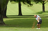 L. Ward hits shot from edge of 18th fairway. Photo by Ned Jilton II