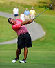 Defending champion Buck Brittain takes a shot at the green while making his approach on the 14th hole during second round action Saturday in the 60th Ridgefields Mens Invitational at Ridgefields Country Club in Kingsport. Photo by Kris Wilson - kswilson@timesnews.net