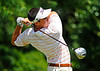 Luke Armstrong follows through on his drive from the 12th tee box during Saturday action in the 60th Ridgefields Mens Invitational at Ridgefields Country Club in Kingsport. Photo by Kris Wilson - kswilson@timesnews.net