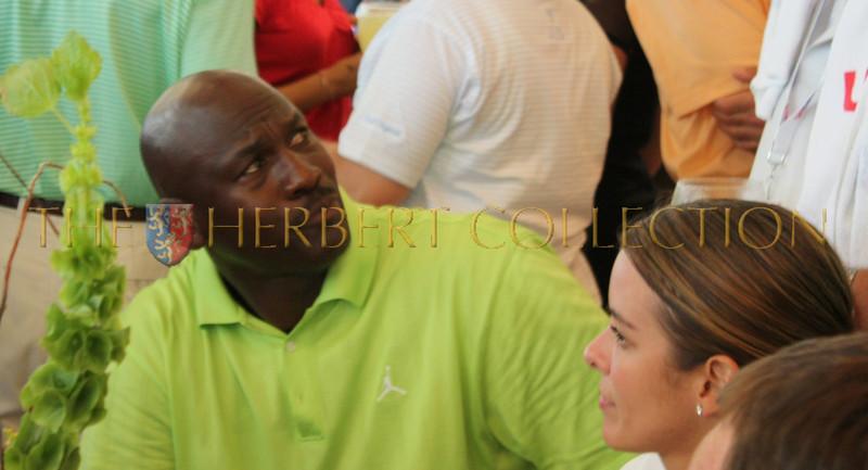 Michael Jordan talks to a pro