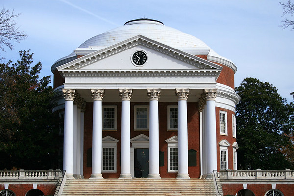Thomas Jefferson's famous Rotunda at the University of Virginia.