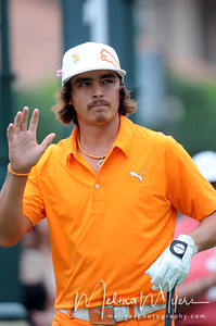 May 13, 2012; Ponte Vedra Beach, FL, USA; Rickie Fowler during the fourth round of the PLAYERS Championship at TPC Sawgrass. Mandatory Credit: Melina Vastola-US PRESSWIRE