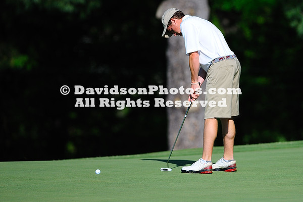 09 April 2012:  The Wofford men's golf team hosted Day 1of the 24th edition of the Coca-Cola Invitational Monday at The Country Club of Spartanburg in Spartanburg, South Carolina, a par-72, 6,648-yard course .