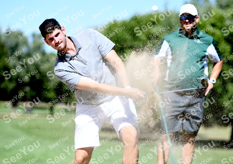 -Messenger photo by Britt Kudla<br /> Eddie Doyle of Fort Dodge compete during Greater Growth Alliance Tournament on Thursday at Fort Dodge Country Club