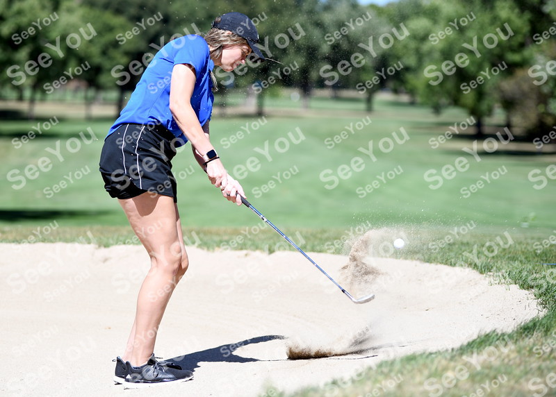 -Messenger photo by Britt Kudla<br /> Baileigh Ashbrook of Fort Dodge compete during Greater Growth Alliance Tournament on Thursday at Fort Dodge Country Club