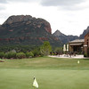 Club house and putting green at 7 Canyons, Sedona AZ