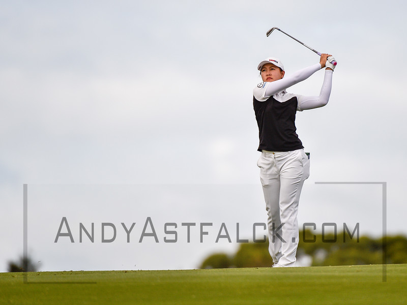 ADELAIDE, AUSTRALIA - FEBRUARY 16:  Kelly Tan of Malaysia on the 11th during round one of the ISPS Handa Women's Australian Open at Royal Adelaide Golf Club on February 16, 2017 in Adelaide, Australia.
