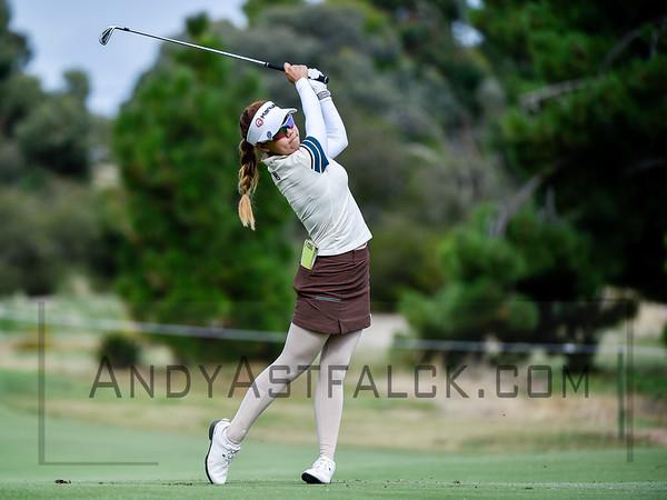 ADELAIDE, AUSTRALIA - FEBRUARY 16:  Jenny Shin of Korea on the 11th fairway during round one of the ISPS Handa Women's Australian Open at Royal Adelaide Golf Club on February 16, 2017 in Adelaide, Australia.
