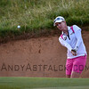 ADELAIDE, AUSTRALIA - FEBRUARY 16:<br /> <br /> Karrie Webb of Australia takes a shot out of the bunker on the 11th hole during round one of the ISPS Handa Women's Australian Open at Royal Adelaide Golf Club on February 16, 2017 in Adelaide, Australia.