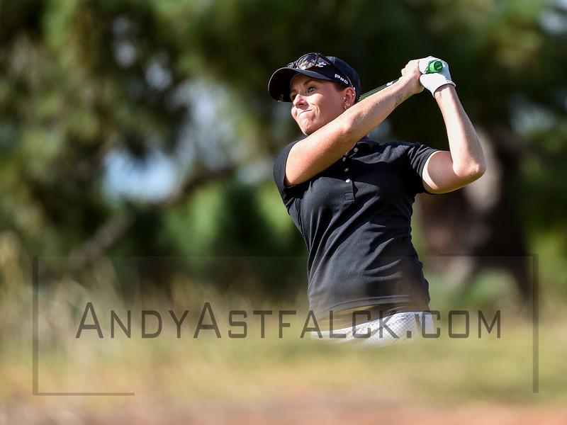 ADELAIDE, AUSTRALIA - FEBRUARY 16:  Adriana Brent  of Australia on the 11th fairway during round one of the ISPS Handa Women's Australian Open at Royal Adelaide Golf Club on February 16, 2017 in Adelaide, Australia.