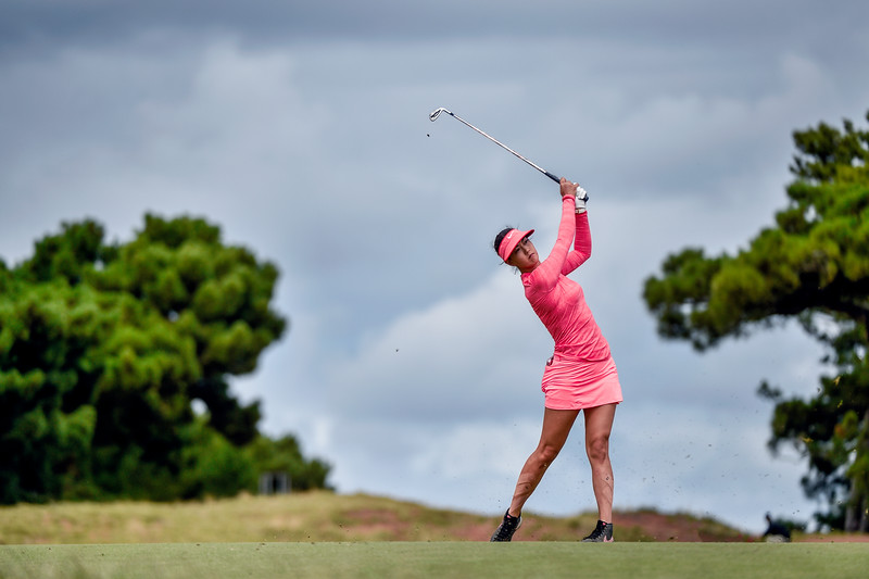 ADELAIDE, AUSTRALIA - FEBRUARY 19:  Michelle Wie of the USA during round four of the ISPS Handa Women's Australian Open at Royal Adelaide Golf Club on February 19, 2017 in Adelaide, Australia.