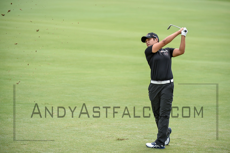 ADELAIDE, AUSTRALIA - FEBRUARY 19:<br /> <br /> Haru Nomura from Japan  during round four of the ISPS Handa Women's Australian Open at Royal Adelaide Golf Club on February 19, 2017 in Adelaide, Australia.