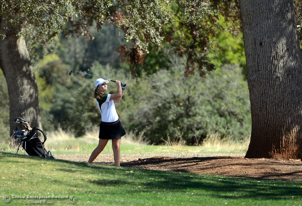 . Paradise High Kelsey Kennedy plays in the EAL girls golf match at Bidwell Golf Course Thursday, October 3, 2013, in Chico, Calif.  (Jason Halley/Chico Enterprise-Record)